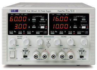 Aim-TTI CPX200D Bench/System DC Power Supply, PowerFlex Regulation, Smart Analog Controls Dual Output, 2 x 60V/10A 180W, No Interfaces