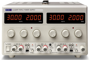 Aim-TTI EL302RT Bench DC Power Supply, Linear Regulation, Analog Controls 2 x 30V/2A plus 1.5-5V/2A Triple Output