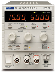 Aim-TTI PL068-P Bench System DC Power Supply, Linear Regulation, Smart Analog Controls Single Output, 6V/8A, USB, RS232 & LAN, GPIB Interfaces