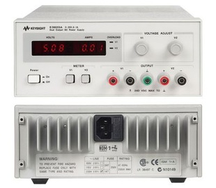 Keysight E3620A Laboratory DC power supply, dual-output: 0-25 V, 0-1 A.